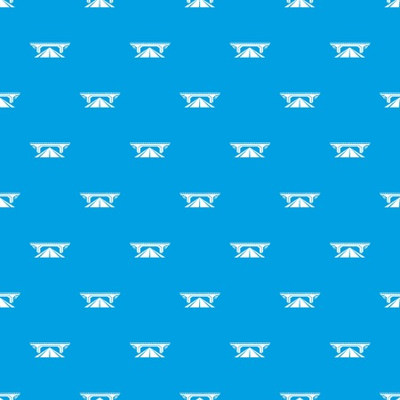 Concrete bridge pattern vector seamless blue repeat for any use Illustration