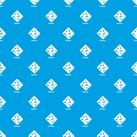 Sliced cheese pattern vector seamless blue repeat for any use