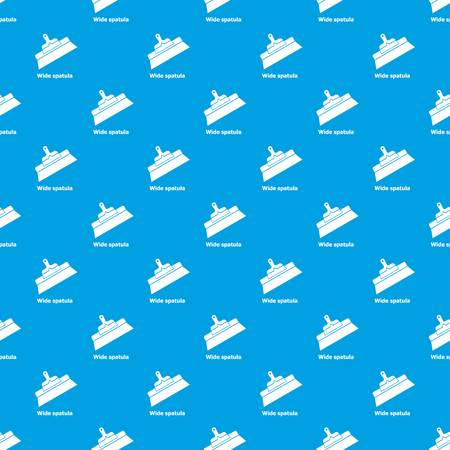 Wide spatula pattern vector seamless blue repeat for any use