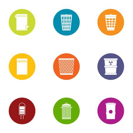 Dust icons set. Flat set of 9 dust vector icons for web isolated on white background