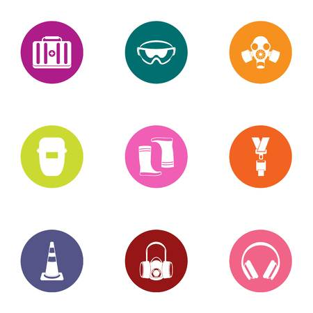 Conjunto de iconos médicos de construcción. Conjunto plano de 9 iconos de vector médico de construcción para web aislado sobre fondo blanco