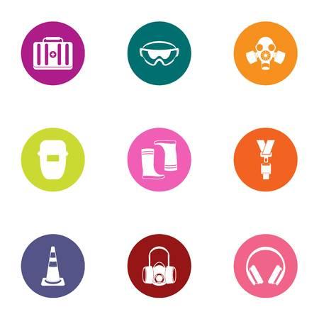 Bouw medische pictogrammen instellen. Platte set van 9 bouw medische vector iconen voor web geïsoleerd op een witte achtergrond