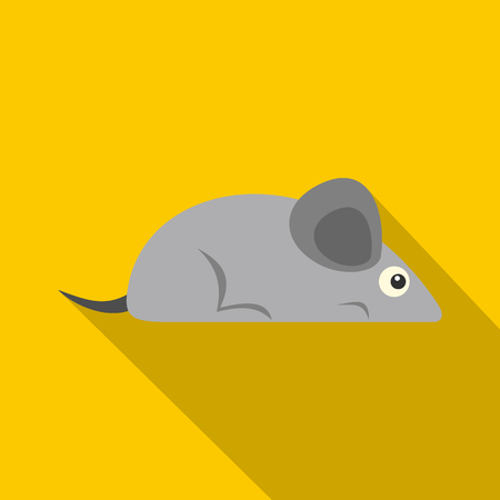 Gray mouse icon, flat style