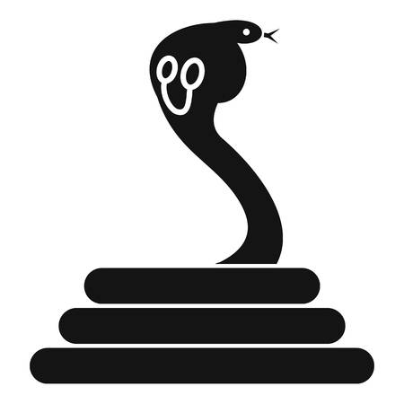 Cobra icon, simple style