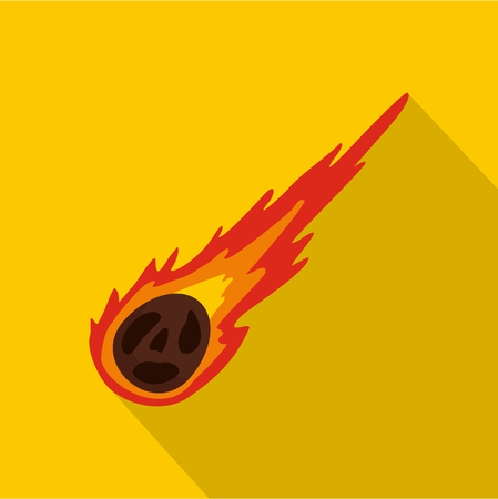 Meteorite icon, flat style