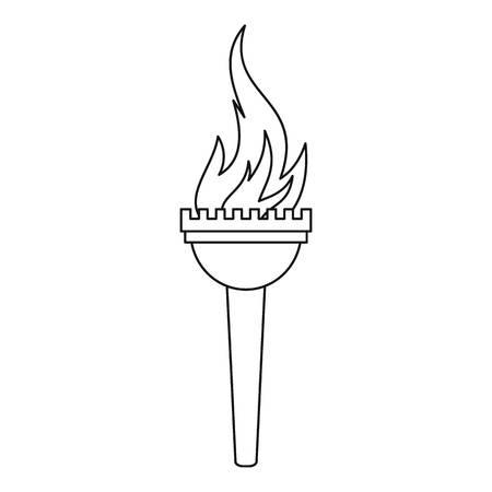 Картинки факела с огнем нарисованный карандашом