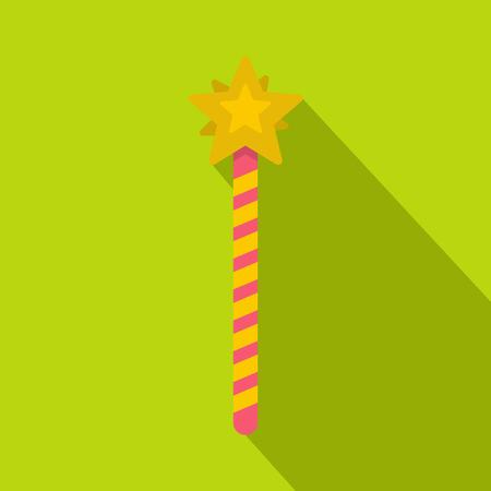 Magic wand icon, flat style