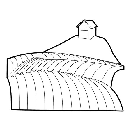 French field icon. Outline illustration of french field icon for web Stock Photo