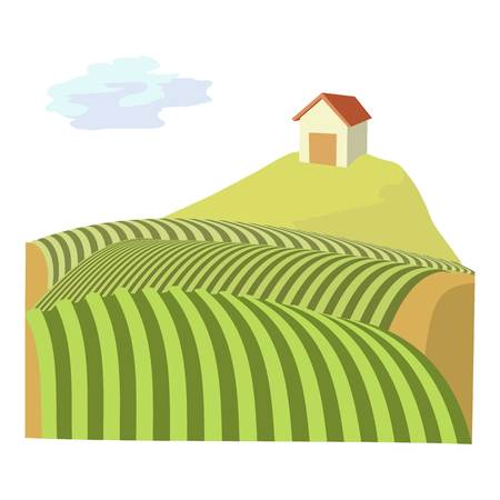 French field icon. Cartoon illustration of french field icon for web