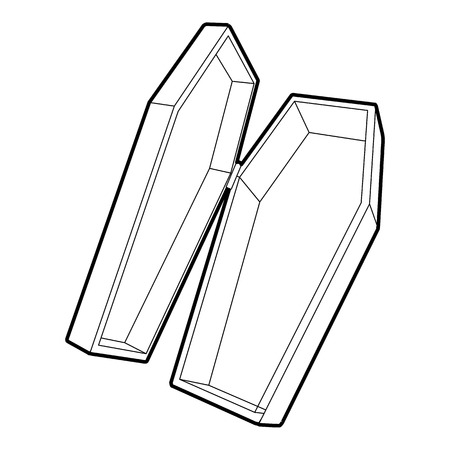 Coffin icon. Outline illustration of coffin icon for web