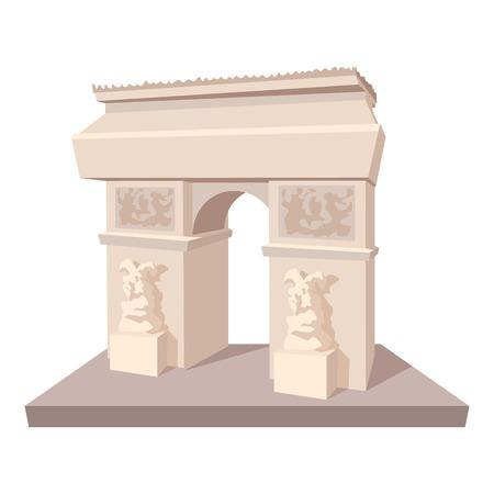 Triumphal arch icon. Cartoon illustration of triumphal arch icon for web