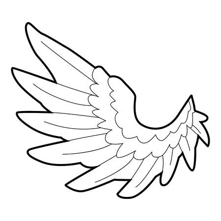 Angel wing icon. Outline illustration of angel wing icon for web