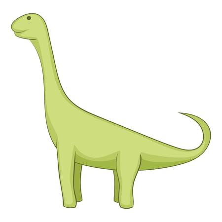 Barapasaurus icon. Cartoon illustration of brachiosaurus icon for web
