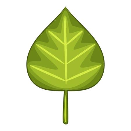 Alder leaf icon. Cartoon illustration of alder leaf icon for web Archivio Fotografico - 108904679