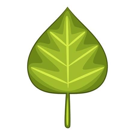 Alder leaf icon. Cartoon illustration of alder leaf icon for web