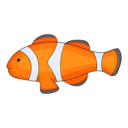 Clown fish icon. Cartoon illustration of clown fish icon for web