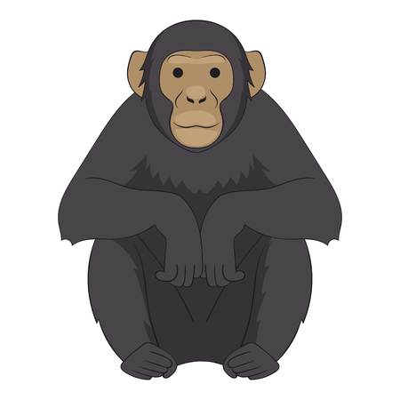 Chimpanzee icon. Cartoon illustration of chimpanzee icon for web