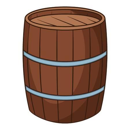 Wine barrel icon. Cartoon illustration of wine barrel icon for web