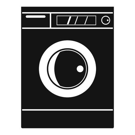 Washing machine icon. Simple illustration of washing machine icon for web