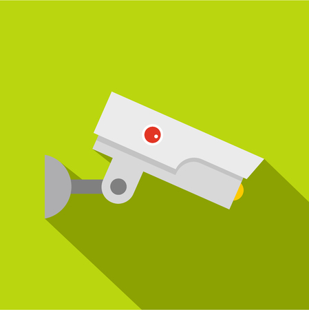 Security camera icon. Flat illustration of security camera icon for web