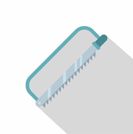 Surgical saw icon. Flat illustration of surgical saw icon for web