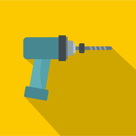 Medical drill icon. Flat illustration of medical drill icon for web