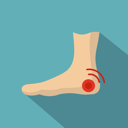 Foot heel icon. Flat illustration of foot heel icon for web