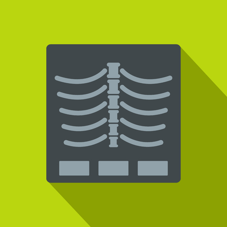 X Ray photo icon. Flat illustration of x ray photo icon for web Foto de archivo - 108912582