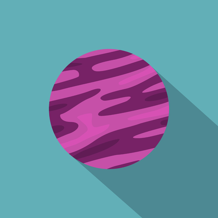 Far away planet icon. Flat illustration of far away planet icon for web Stock Photo