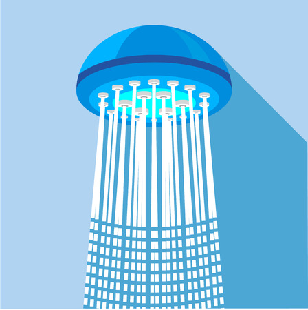 Shower icon. Flat illustration of shower icon for web