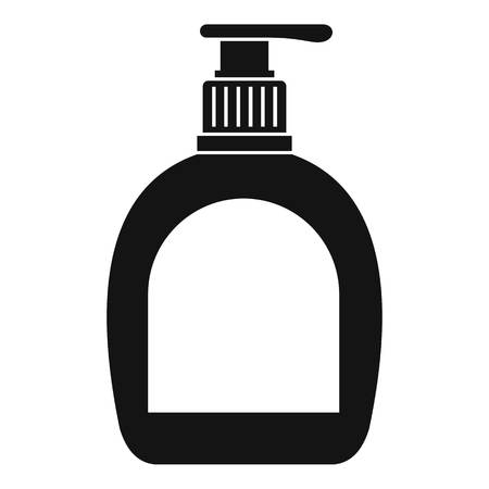 Bottle with liquid soap icon. Simple illustration of bottle with liquid soap icon for web