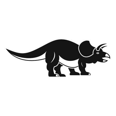 Styracosaurus icon. Simple illustration of styracosaurus icon for web