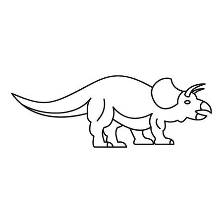 Styracosaurus dinosaur icon. Outline illustration of styracosaurus dinosaur icon for web Stock Photo