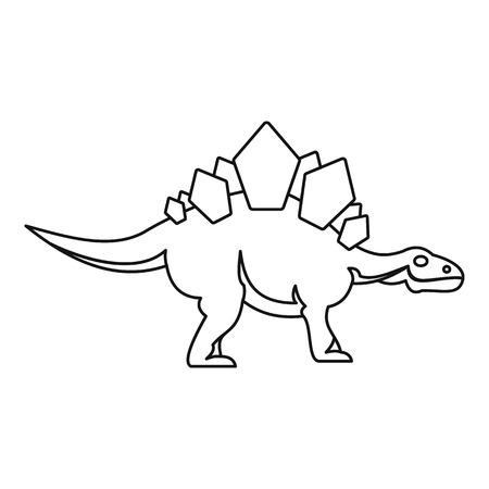 Stegosaurus icon. Outline illustration of stegosaurus icon for web Stock fotó
