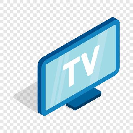 TV screen isometric icon 3d on a transparent background illustration