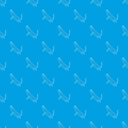 Underwater dinosaur pattern vector seamless blue repeat for any use
