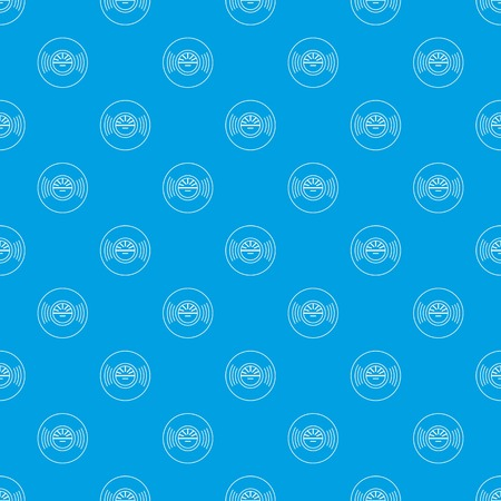 Vinyl record pattern vector seamless blue repeat for any use