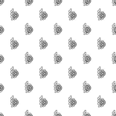 Intestine virus pattern vector seamless repeating for any web design Ilustrace