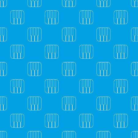 Piano keys pattern vector seamless blue repeat for any use Illustration