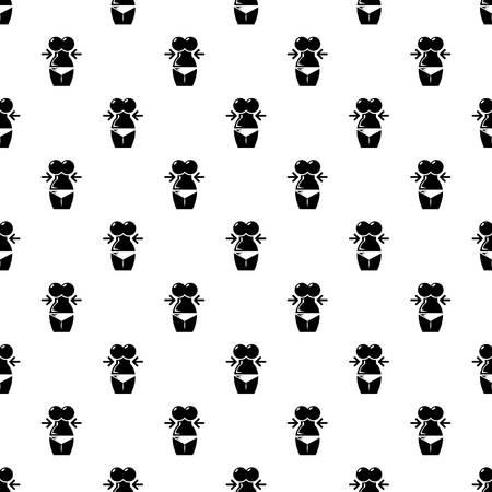 Spa body silhouette pattern vector seamless Ilustração