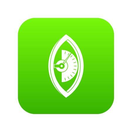 Hand power meter icon digital green