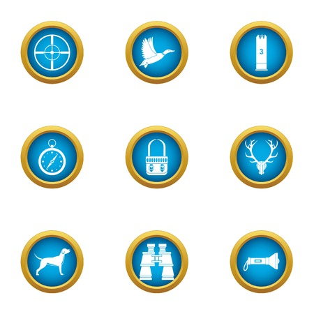 Chasing icons set. Flat set of 9 chasing vector icons for web isolated on white background 向量圖像