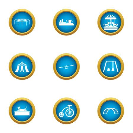 Jump icons set. Flat set of 9 jump vector icons for web isolated on white background
