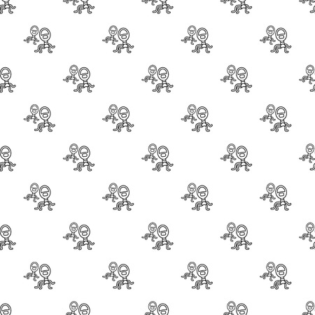 Protozoan virus pattern vector seamless repeating for any web design