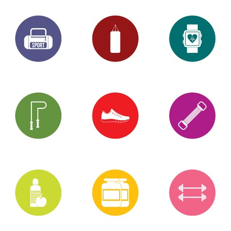 Rollick icons set. Flat set of 9 rollick vector icons for web isolated on white background
