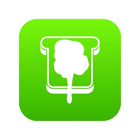 Bread icon digital green