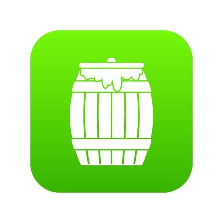 Honey keg icon digital green Illustration