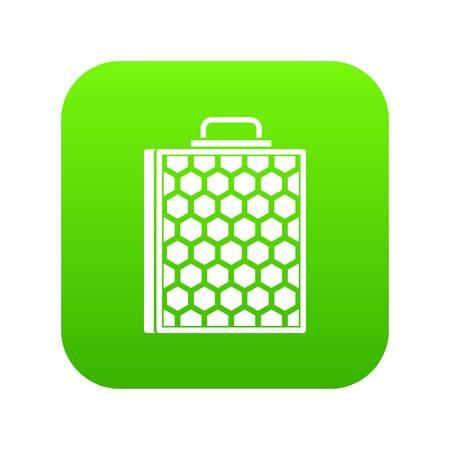 Honeycomb icon digital green