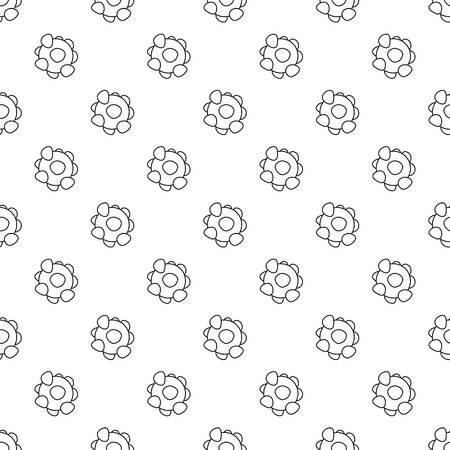Coronavirus pattern vector seamless Illustration