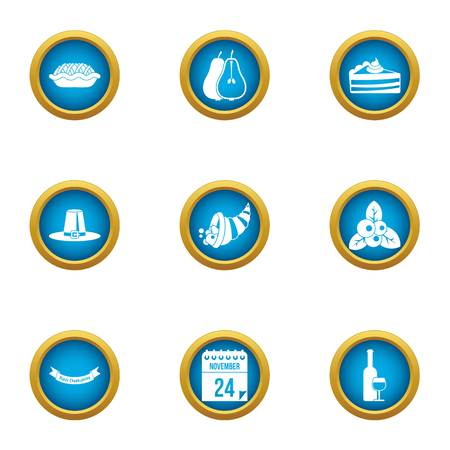 Harvest crop icons set. Flat set of 9 harvest crop vector icons for web isolated on white background Vectores